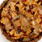 Caramel Apple Pie Raw Vegan Recipe Healthy and Delicious Recipe for the Holidays Plant-Based Raw Food Planted365 #veganpie #rawveganpie #rawfoodrecipe #rawfoodpie #veganrecipe