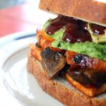 BBQ Tofu Sweet Potato Sandwich Vegan Plant Based Recipe Planted365.com planted 365