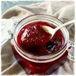 Cherry Rhubarb Jam No Pectin Small Batch Simple Quick Delicious Easy #nopectinjam #cherryjam #cherryrhubarbjam #smallbatchjam featured